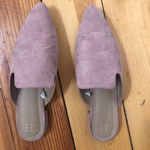 Shoes - Pink Pointed Mules